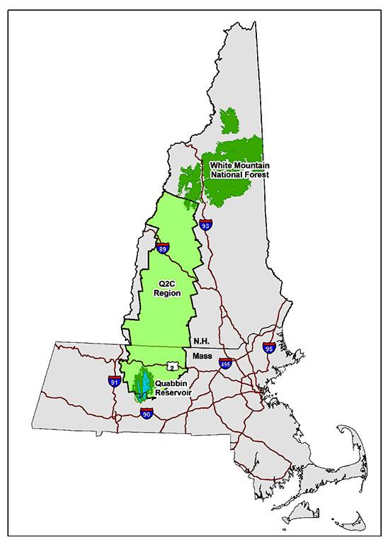 q2cpartnership Quabbin Trail Map on